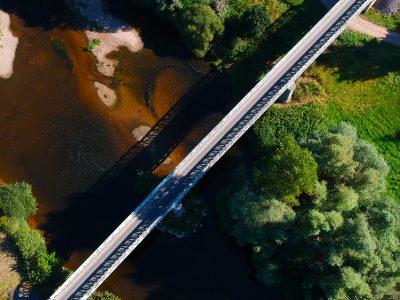 Le pont Eiffel – Vue de Drone